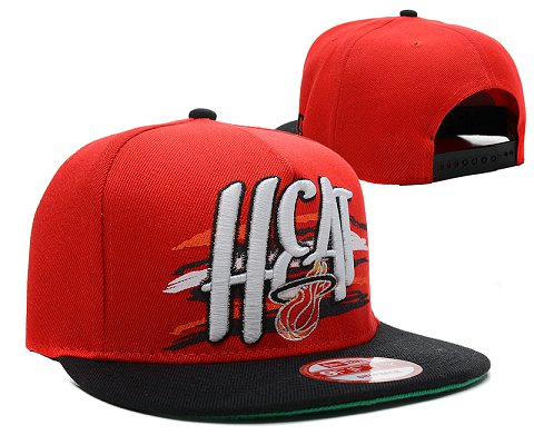 Miami Heat NBA Snapback Hat SD11