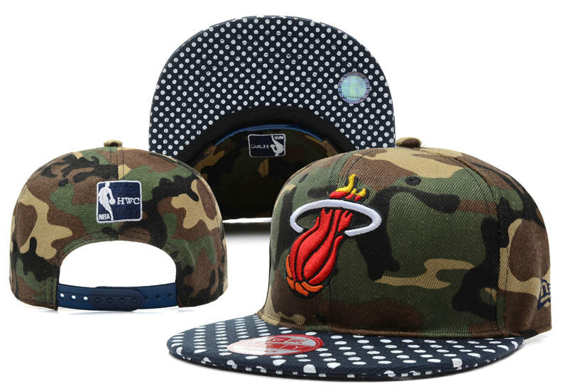 Miami Heat Camo Snapback Hat DF 0512
