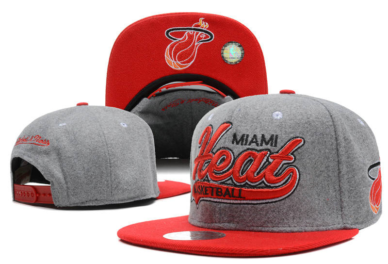 Miami Heat Grey Snapback Hat DF 0512