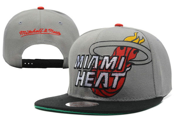 Miami Heat Grey Snapback Hat XDF 0512