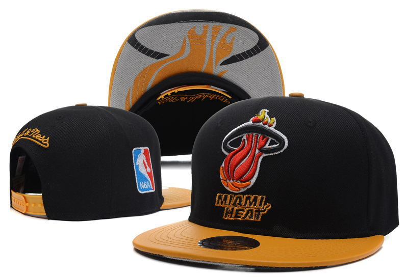 Miami Heat Snapback Hat DF2 0512