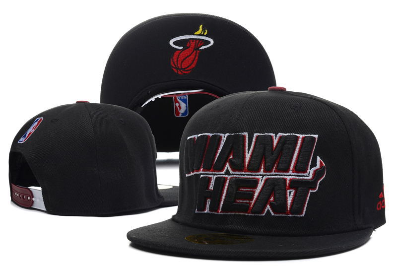 Miami Heat Snapback Hat DF4 0512
