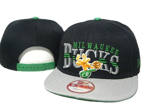 Milwaukee Bucks NBA Snapback Hat DD1