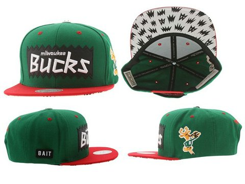Milwaukee Bucks NBA Snapback Hat Sf3