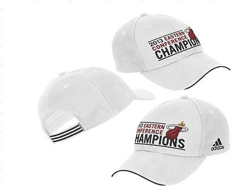 2013 Eastern Conference Champions Miami Heat White Peaked Cap DF 0512