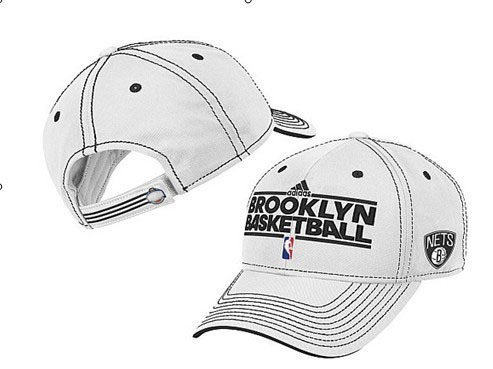Brooklyn Nets White Peaked Cap DF 0512