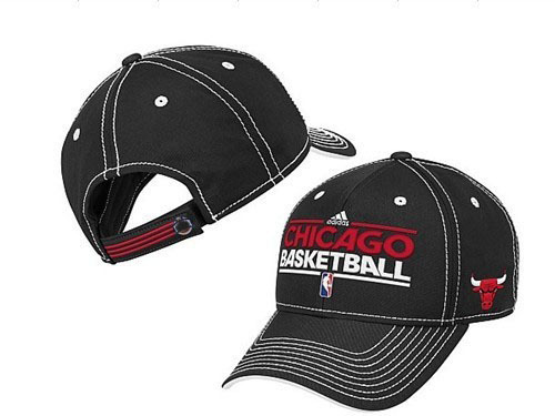Chicago Bulls Black Peaked Cap DF1 0512