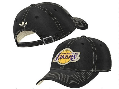 Los Angeles Lakers Black Peaked Cap DF 0512