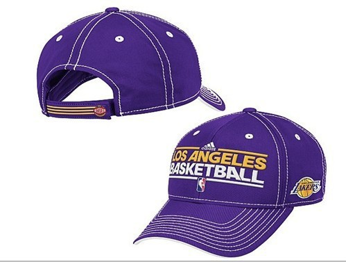 Los Angeles Lakers Purple Peaked Cap DF 0512
