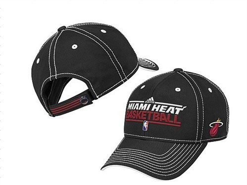 Miami Heat Black Peaked Cap DF 0512