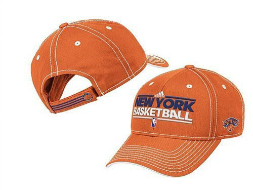 New York Knicks Orange Peaked Cap DF 0512