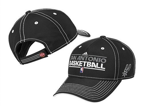 San Antonio Spurs Black Peaked Cap DF 0512