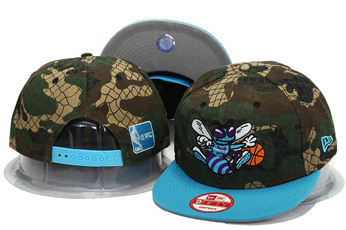 New Orleans Hornets Camo Snapback Hat YS 0701