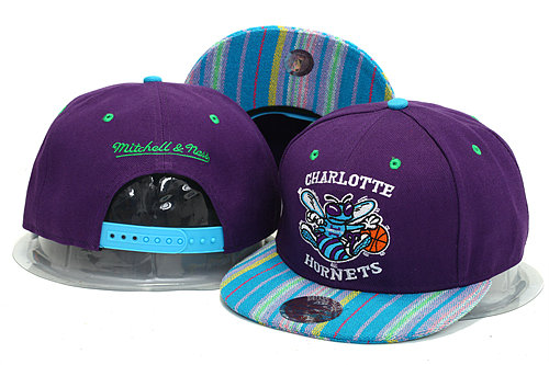 New Orleans Hornets Purple Snapback Hat YS 0613