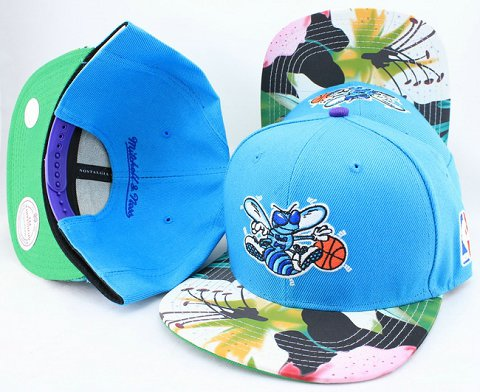 New Orleans Hornets Flower Bill Snapback Hat JT02