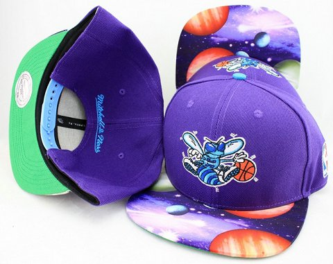 New Orleans Hornets Flower Bill Snapback Hat JT09