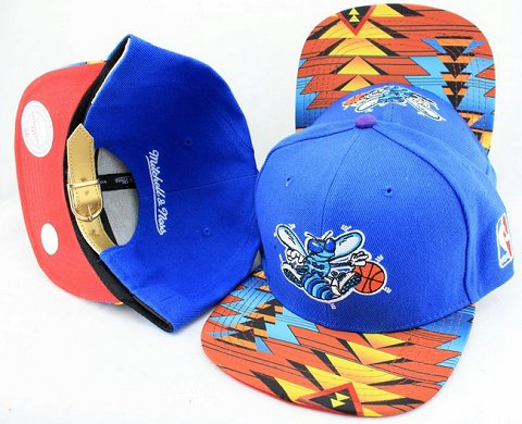 New Orleans Hornets Navajo Retro Bill Gold Leather Strap Back Hat JT24