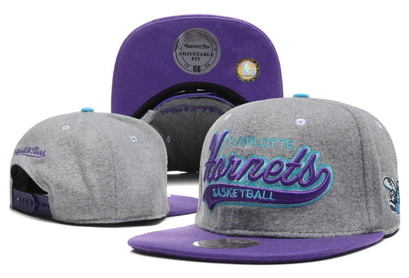 New Orleans Hornets Grey Snapback Hat DF 0512