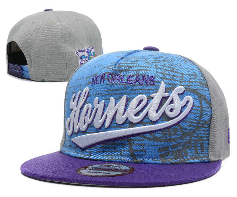 New Orleans Hornets Grey Snapback Hat DF1 0512