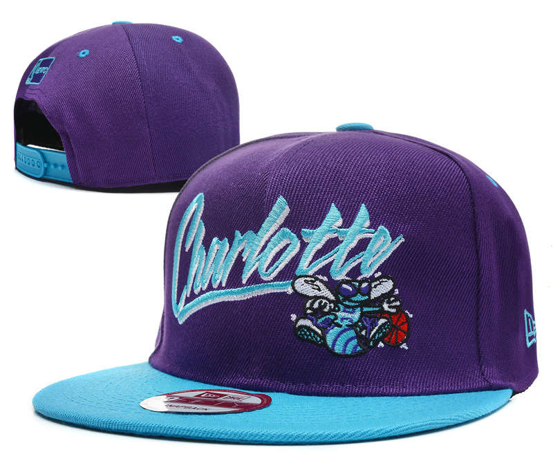 New Orleans Hornets Purple Snapback Hat DF 0512