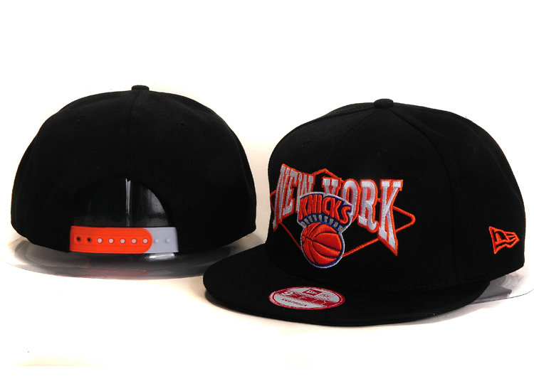 New York Knicks Black Snapback Hat YS 2