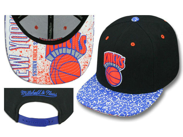 New York Knicks Black Snapback Hat LS