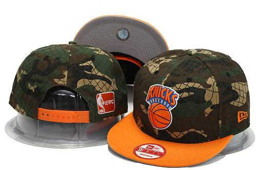New York Knicks Camo Snapback Hat YS 0701