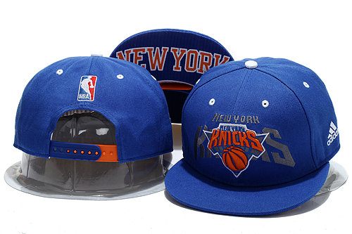 New York Knicks Blue Snapback Hat YS 0721