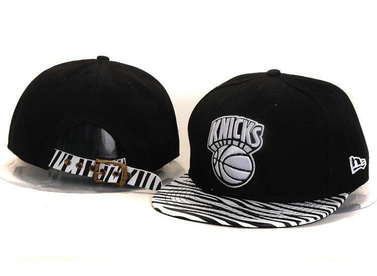 New York Knicks Black Snapback Hat YS 1