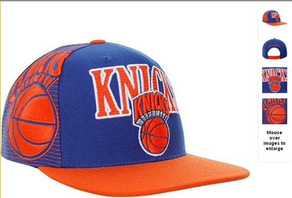 New York Knicks NBA Snapback Hat 60D14