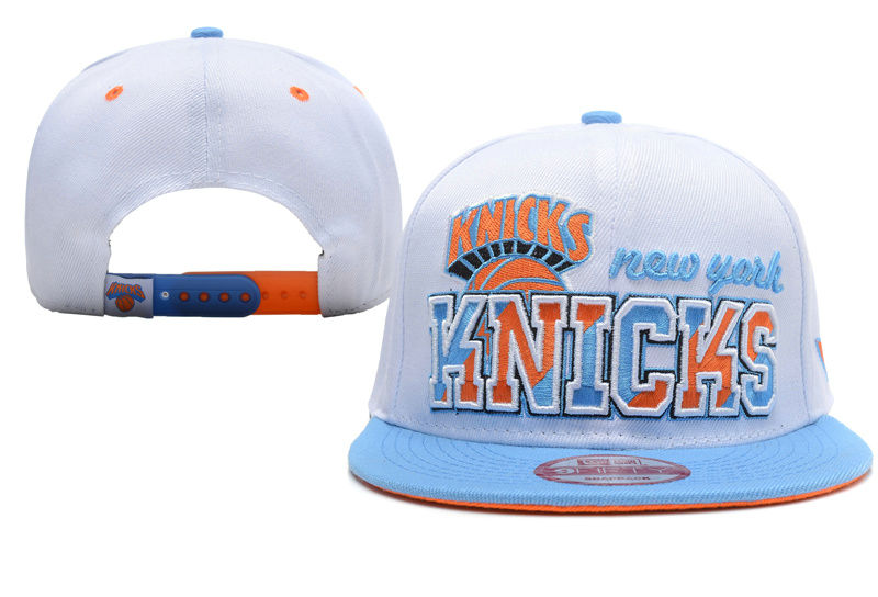 New York Knicks White Snapback Hat XDF 0512