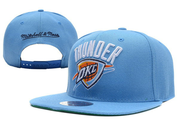 Oklahoma City Thunder Blue Snapback Hat XDF 1