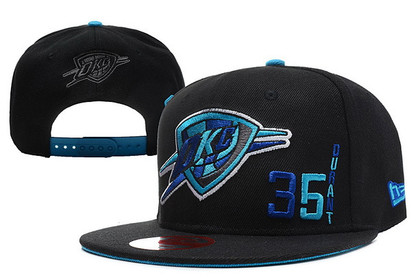Oklahoma City Thunder Black Snapback Hat XDF 4