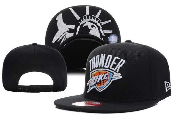 Oklahoma City Thunder Black Snapback Hat XDF 5