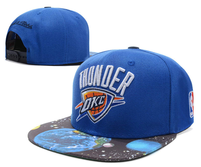 Oklahoma City Thunder Blue Snapback Hat SD
