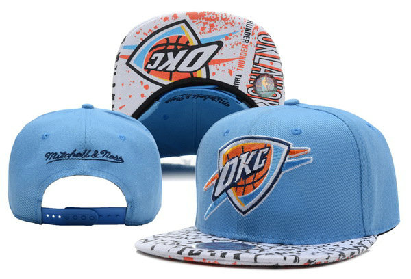 Oklahoma City Thunder Blue Snapback Hat XDF 0528