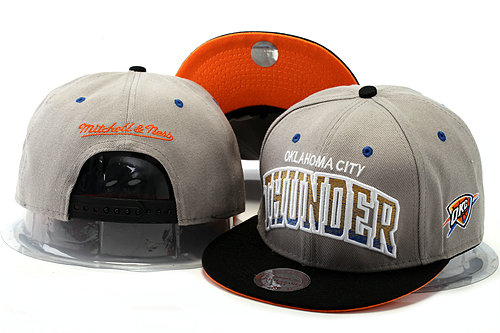 Oklahoma City Thunder Grey Snapback Hat YS 0528
