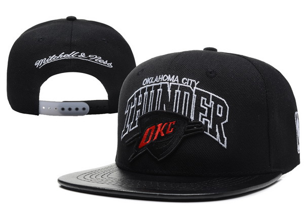 Oklahoma City Thunder Black Snapback Hat XDF