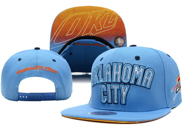 Oklahoma City Thunder Blue Snapback Hat XDF