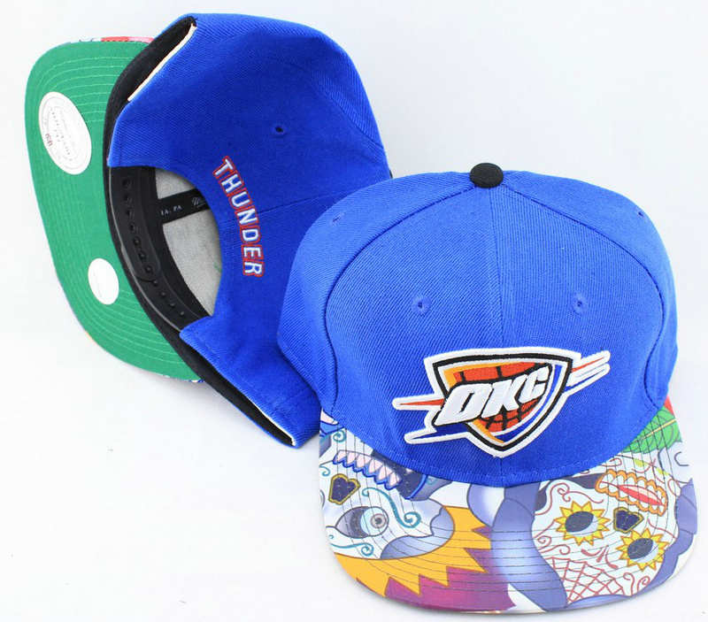 Oklahoma City Thunder Blue Snapback Hat JT 0613