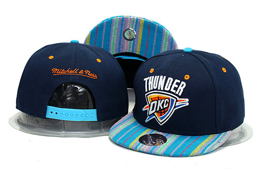 Oklahoma City Thunder Blue Snapback Hat YS 0613