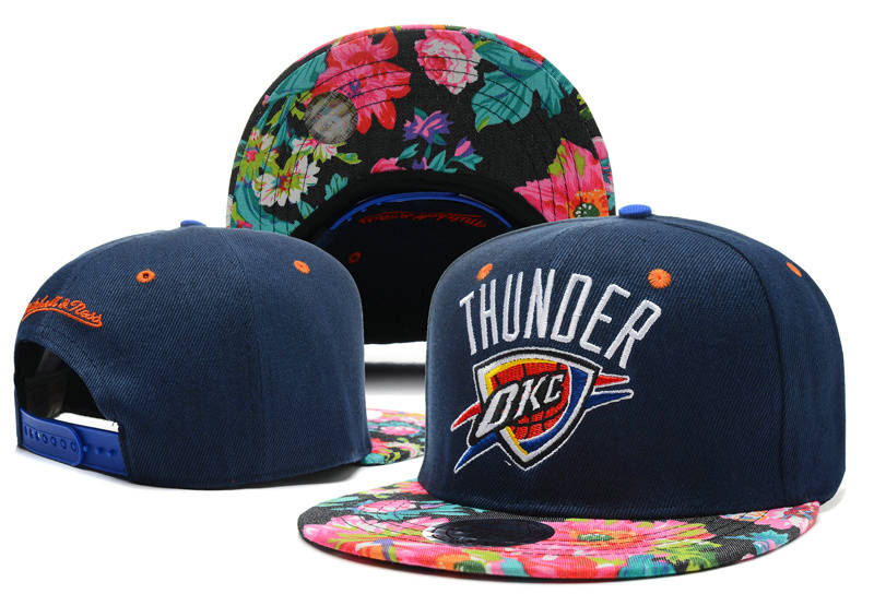 Oklahoma City Thunder Navy Snapback Hat DF 0721