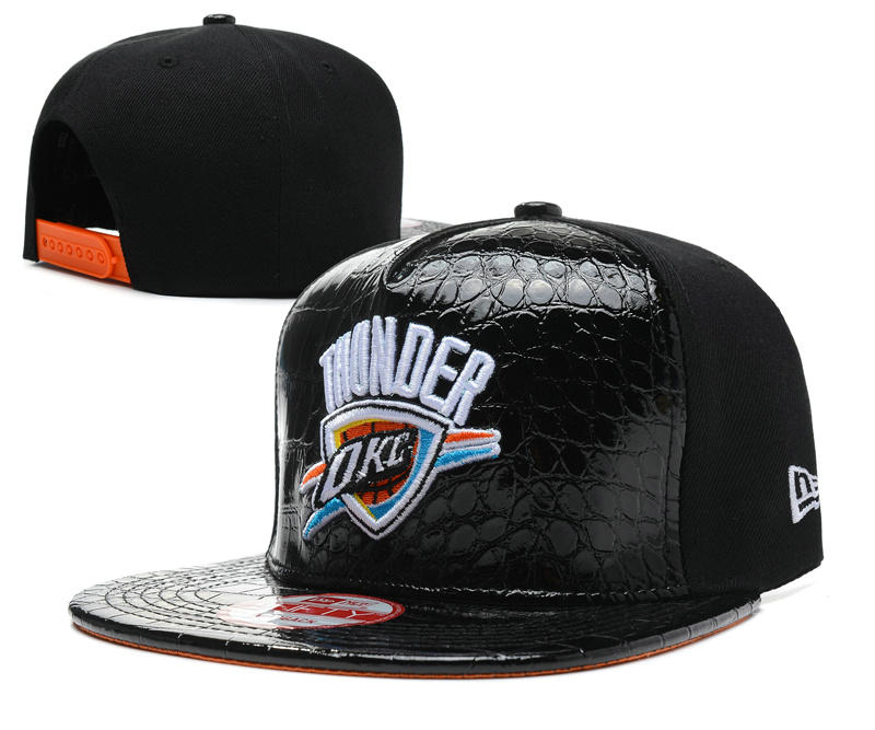 Oklahoma City Thunder Black Snapback Hat SD