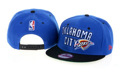 Oklahoma City Thunder NBA Snapback Hat 60D3