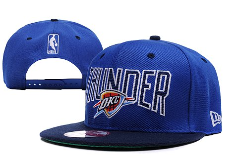 Oklahoma City Thunder NBA Snapback Hat XDF092
