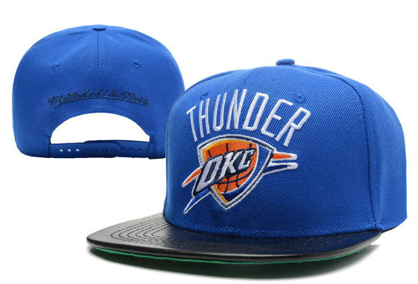 Oklahoma City Thunder Blue Snapback Hat XDF 0512