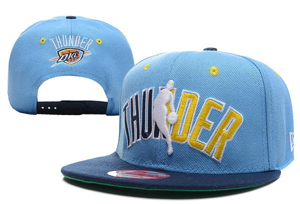 Oklahoma City Thunder Blue Snapback Hat XDF1 0512
