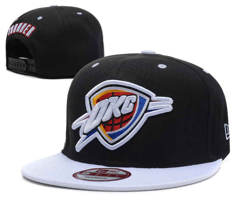 Oklahoma City Thunder Black Snapback Hat DF 0512