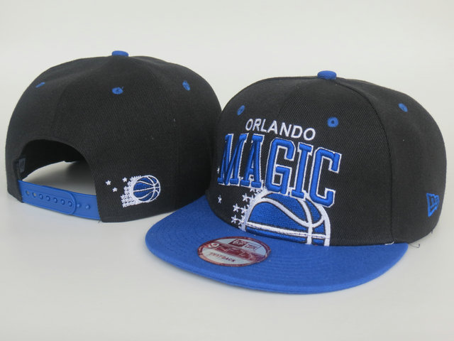 Orlando Magic Black Snapback Hat LS