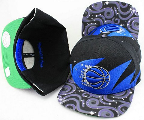 Orlando Magic Flower Bill Snapback Hat JT06